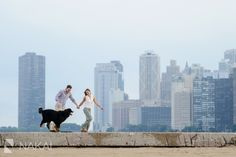 Top Engagement Session Locations in Chicago: North Ave Beach! Sunset engagement photos taken by Chicago engagement photographer: Nakai Photography! Some of the best pictures are taken with skyline! So romantic and timeless! http://www.nakaiphotography.com