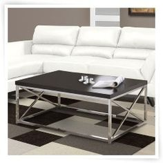 Monarch Specialties Chrome Metal Coffee Table