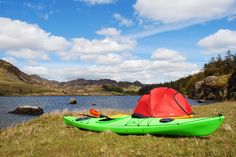 Get away from it all... pack the kayak and go camping!
