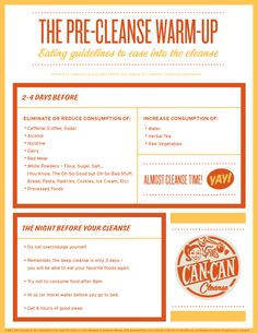 Can Can Cleanse: Pre Cleanse Warm Up