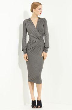 Donna Karan Collection 'Plunge' Jersey Dress