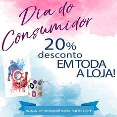 """1 curtidas, 1 comentários - Arte Espelhada (@arteespelhada) no Instagram: """"Hoje é dia do consumidor e temos um presentão. =D 20% de desconto em TODA a loja! Poster e canecas você encontra em nosso site: www.arteespelhada.iluria.com  #poster #caneca #arte #diadoconsumidor #loja #lojavirtual #lojaonline #comprodequemfaz #desconto #promocao #consumidor #cliente #decoracao #desenho"""""""