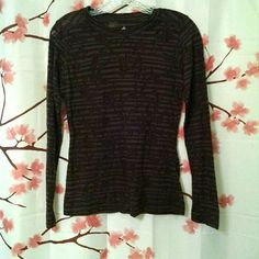 prAna Brown Long-Sleeve Burnout T Shirt S Lightweight and comfortable 52%poly/30%cotton/18% rayon blend, form fitting, with see-through burnout design. Gently used condition. prAna Tops Tees - Long Sleeve