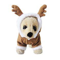 Cute Pet Cat Dog Elk Deer Christmas Costumes Coat Clothing Puppy Outfit Xmas NEW