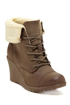 Bucco Jorita Ankle Faux Fur Lined Wedge Boot by Carrini on @HauteLook ..... Perfect for the Fall/Winter season... A must have!!!