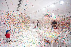 Japan: Yayoi Kusama- Installation view of The Obliteration Room 2011