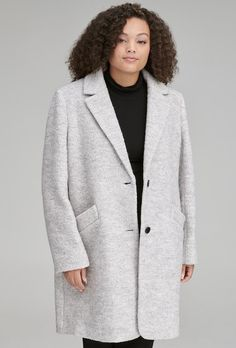 99dc23599ad Plus Size Boucle Coat for Women. Cute Winter ...