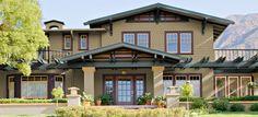 color combinations exterior paint - Google Search Bungalow Exterior, Craftsman Exterior, Craftsman Style Homes, Ranch Style Homes, Craftsman Bungalows, Craftsman Houses, Bungalow Homes, Exterior Trim, Stucco Houses