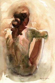 """Sitting Nude"" - Robert Stack {figurative art female back seated woman painting} robertstackart.com"
