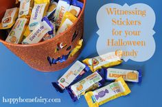 A better message: Printable stickers to put on lollies for trick and treater's on Halloween.