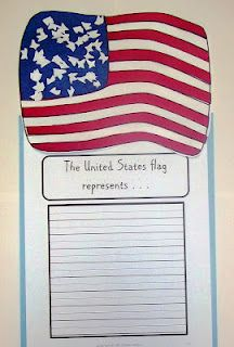 For a social studies project this would be a brilliant and cute idea. The students would make the Flag and then have to write what it means to them and what the flag has to represent.