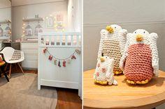 Para deixar o dormitório da Helena com decoração de passarinhos ainda mais fofo, móveis e acessórios personalizados da loja Berta Gonçalez