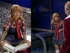 Jo Grant wearing probably what's my favourite outfit of hers.  Especially love the thigh highs!