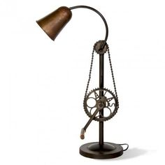 Metal lamp with an adjustable height. Sure to be a conversation starter :) -www.cooliyo.com