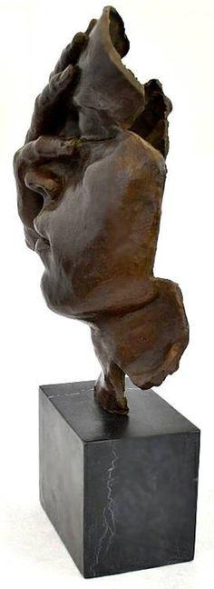 La mémoire pensant II Hommage à Dali grand Bronze Sculpture / | Etsy