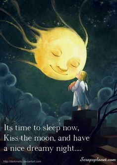"""Good Night Quotes and Good Night Images Good night blessings """"Good night, good night! Parting is such sweet sorrow, that I shall say good night till it is tomorrow."""" Amazing Good Night Love Quotes & Sayings Art And Illustration, Illustrations, Stars And Moon, Good Night Greetings, Good Night Moon, Night Gif, Good Night Sweet Dreams, Beautiful Moon, Beautiful Images"""