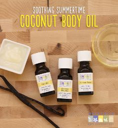 Capture the sweet smell of summer with this all-natural body oil featuring vanilla, jasmine and lemon balm. #coconut
