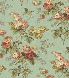 Home Decor Print Fabric-Waverly Emma's Garden /Mist at Joann.com