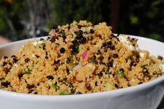 Black Lentil and Couscous Salad