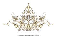 Digital Textile Design Motif Botanical Flower Stock Illustration 2022556031