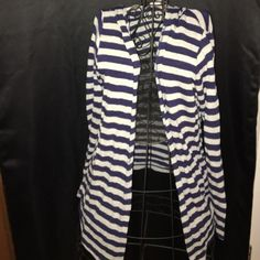 Sweet Romeo stripped hooded cardigan Perfect for layering! Sweet Romeo Sweaters Cardigans