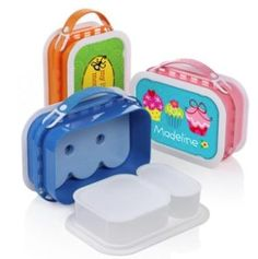 Yubo lunchbox--saw on Shark Tank. Designed my own--best lunchbox ever. Can put entire thing in dishwasher!!!!