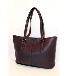 COACH 1970s Rare Seamed NYC Tote in Cordovan / by CashinCarry