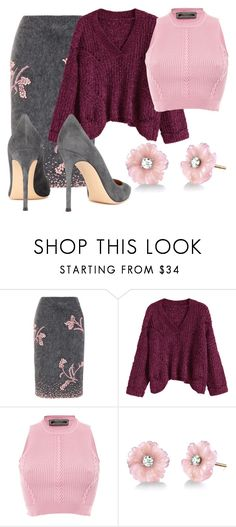 """Untitled #24"" by melsonxoxo on Polyvore featuring Prada, Versace, Irene Neuwirth and Gianvito Rossi"