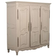 View This Item And Discover Similar Wardrobes And Armoires For Sale At    This Lovely French Armoire Has Been Given New Life With A Recent Painted  Gray/white ...