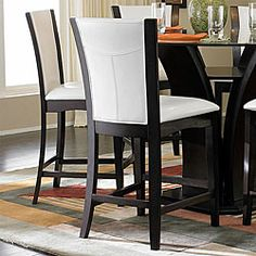@Overstock - Clean lines, sleek curves and a modern design makes these Portman chairs a must-have in any decor.  These counter-height chairs are constructed of solid Asian hardwood with a comfortable faux leather seat.http://www.overstock.com/Home-Garden/Portman-White-Faux-Leather-24-inch-Counter-height-Chairs-Set-of-2/5110341/product.html?CID=214117 $213.99