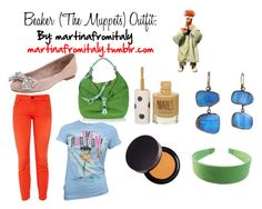 """""""Beaker (The Muppets) Outfit"""" by martinafromitaly ❤ liked on Polyvore"""