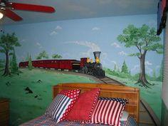 Old Train Wall Murals Bedroom Ideas