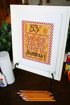 Dry Erase Countdown for Teachers - Teacher Appreciation Week gift idea. They can use it year after year to countdown to the fun and important activities.