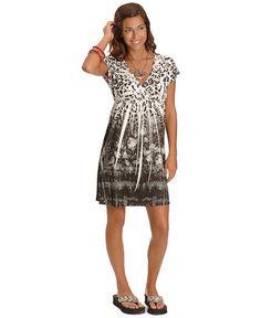 Panhandle Slim Cap Sleeve Animal Print Dress