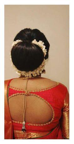 Indian Long Hair Braid, Braids For Long Hair, Big Bun, Indian Costumes, Hair Buns, Bun Hairstyles, Blouse Designs, Blouses, Long Hair Styles
