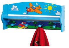 Percheros de pared infantiles   perchero de madera para niños   CosasBienHechas.es