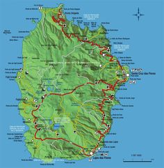 Isle of Flores (The Isle of Flowers) Map: Flores in the Azores Islands is a part of Portugal. The Azores are equal to any Portuguese mainland province, as are the Madeira Islands