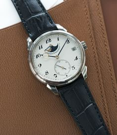 Urban Jurgensen 2340 Moonphase white gold watch at A Collected Man London