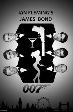 Bond, James Bond. Artwork by jackiejr. #jamesbond #007