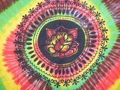 Indian Mandala Tapestry Elephant Mandala Tapestry In Sun