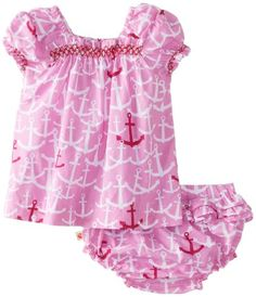 Hatley - Baby Baby-Girls Newborn Smocked Voile Bloomer Set Scattered Anchors, Pink, 6-12 Months Hatley http://www.amazon.com/dp/B00FG38PPI/ref=cm_sw_r_pi_dp_-EdTtb0S4QQJP8X8