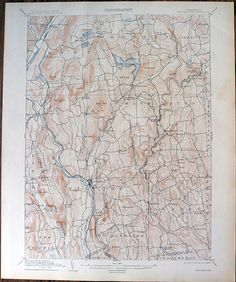 Antique Rare Burlington Pennsylvania New By SeaGlassPrimitives - Us Map 1908