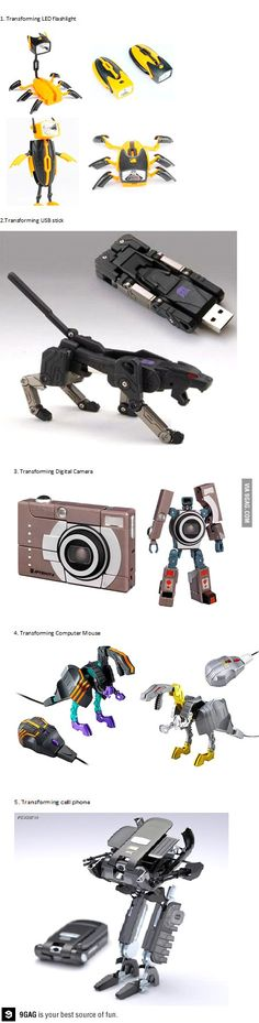 Some cool transforming gadgets