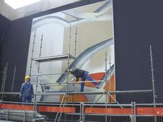 Guillaume Bottazzi – Removing the scaffold – Second part / 215m² painting - La Défense