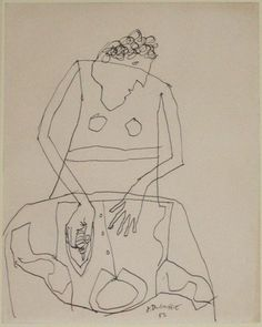 Woman Ironing A Shirt, I. (December 1951) - Jean Dubuffet.