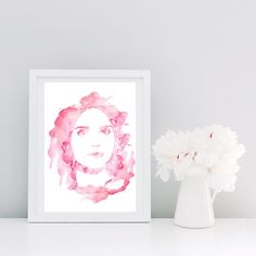 Lydia Martin Watercolor Printable Art from Teen Wolf di FancyCraftIT su Etsy