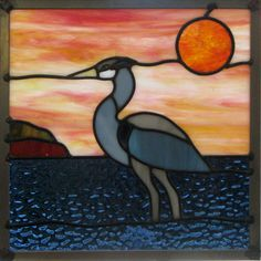 A pattern for my popular stained glass blue heron can be sized as you see fit. A .pdf file will be available for download once you purchase.