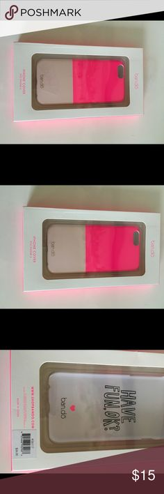 New ban.do iPhone 6/6s Case Brand new hard phone case for iPhone 6/6s. No trades or PayPal. ban.do Accessories Phone Cases
