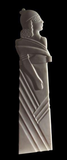 Erdinç Bakla, Young Man, Marble, 145x49x10 cm, 2005
