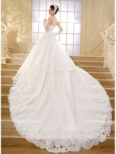 Ball Gown Sweetheart Lace Wedding Dresses Bridal Gowns 99603193